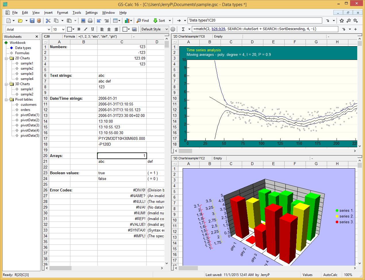 GS-Calc full screenshot